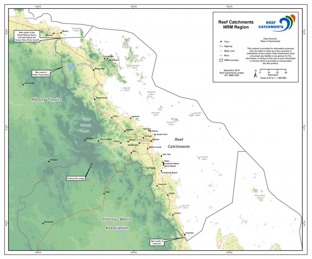 Reef Catchments' NRM region.